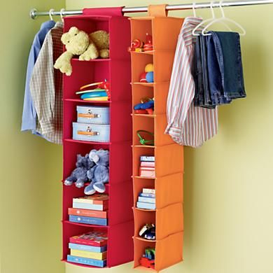 Canvas Hanging Closet Storage You Could Easily Use This Combined With  Hanging Clothes Instead Of A