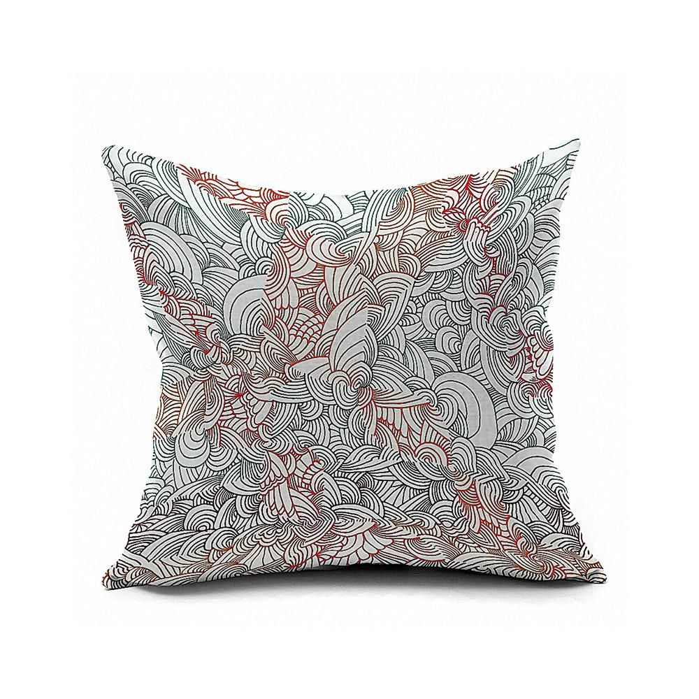 Cotton Flax Pillow Cushion Cover Geometry    JH135 - 8PS