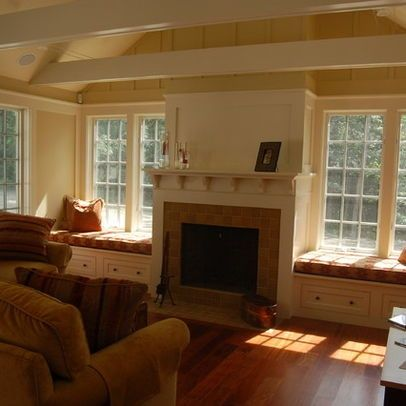 Fireplaces With Side Windows | Window Seats On Side Of Fireplace Or TV |  Home Sweet