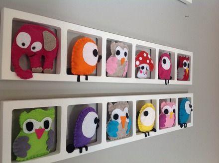 Idée originale pour la décoration de la chambre de bébé. Cadre mural ...