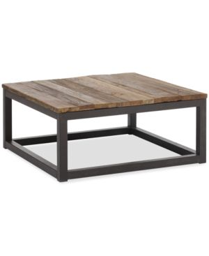 Eugene Square Coffee Table Quick Ship Distressed Natural Rustic Coffee Tables Wood Metal Modern Coffee Tables