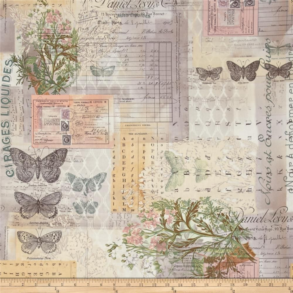 Designed by Tim Holtz, this cotton print is perfect for quilting, apparel and home decor accents. Colors include purple, yellow, orange, shades of brown, shades of grey, and shades of green.