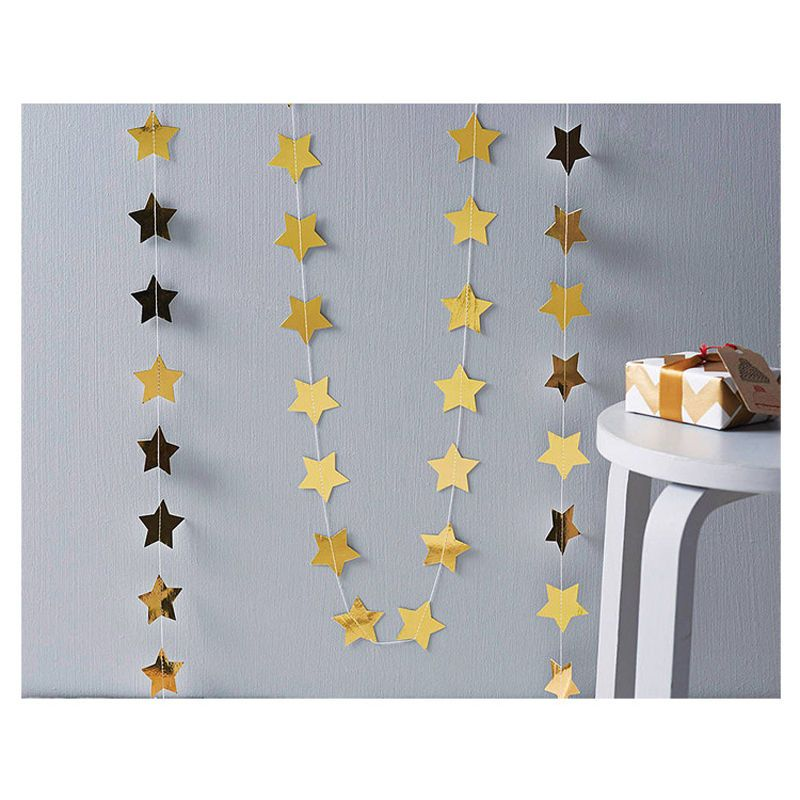 Paper Star Wedding Birthday Party Baby Kids Room Hanging Decorative Garland 8C