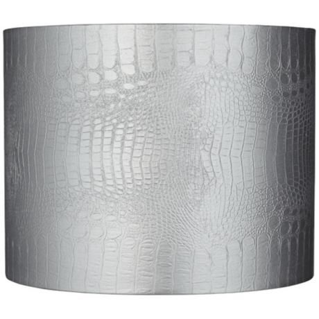 Silver reptile embossed drum lamp shade 14x14x11 spider y6222 silver reptile embossed drum lamp shade 14x14x11 spider y6222 lampsplus aloadofball Image collections