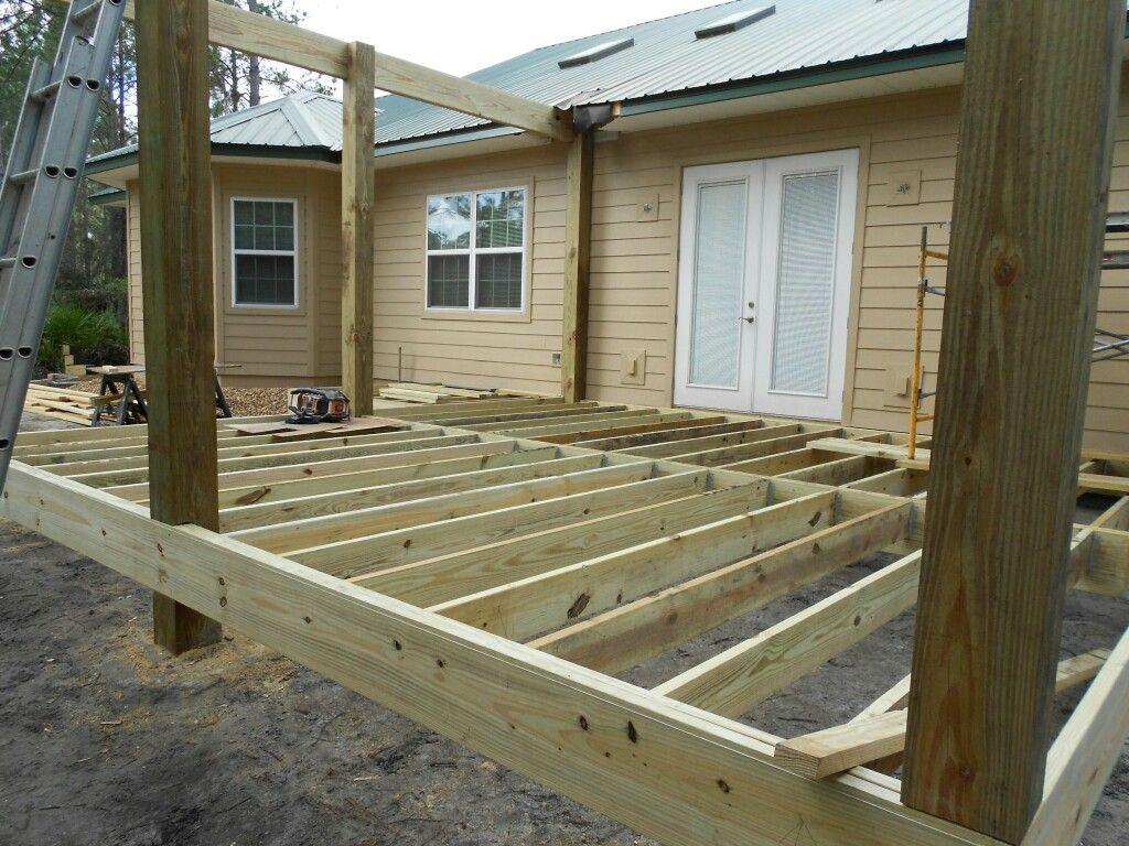 Deck Frame Building A Deck Building A Deck Frame Timber Deck