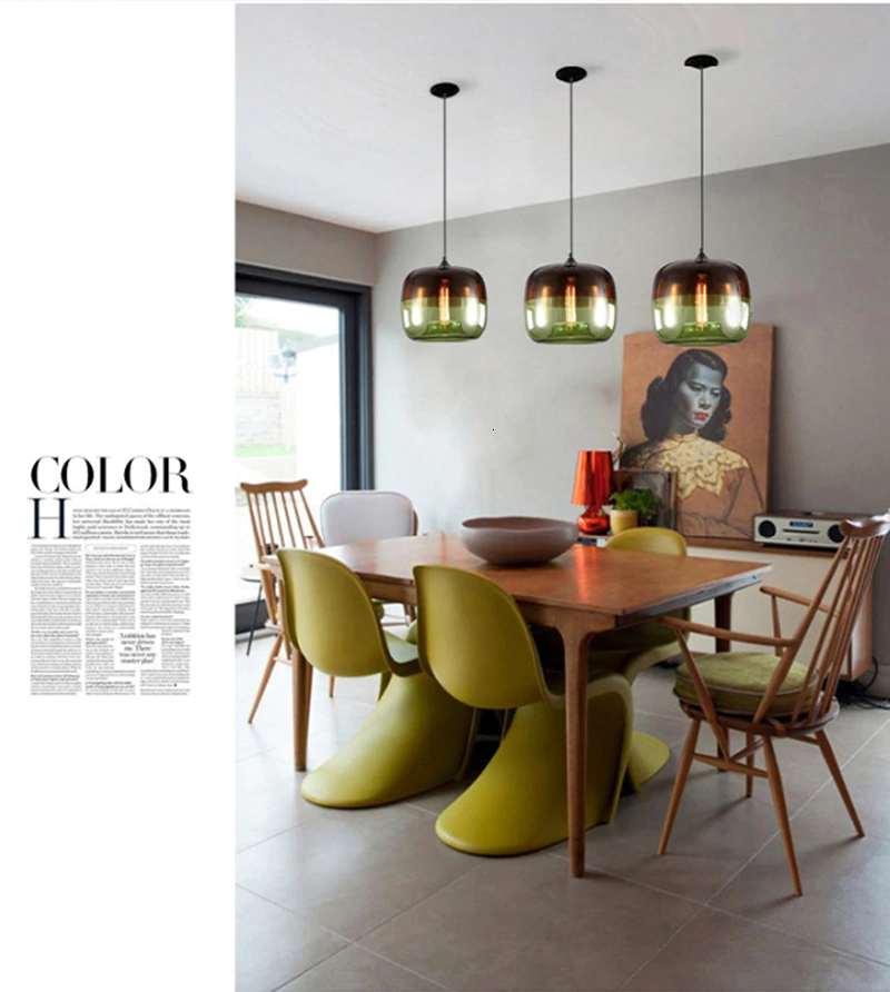 Modern Nordic Art Hanging Glass Pendant Lamp Lights Fixtures - Nordic Garner #minimalistlamp #lighting #nordicinterior #homedecor #diy #realestate #architecture #interiordesign #pendantlamp #pendantlight