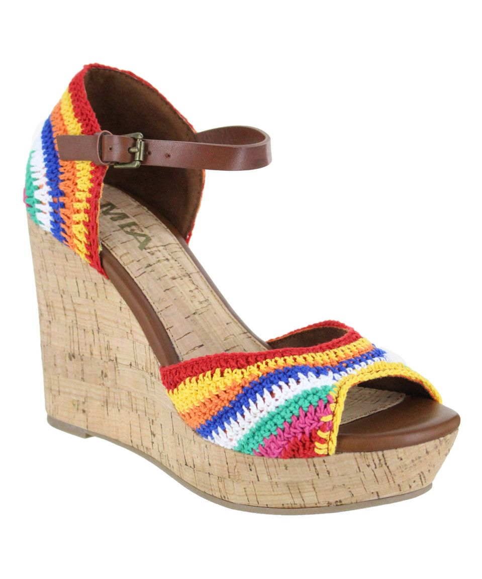 bfc6a0691ecd Take a look at this MIA Shoes Rainbow Hanah Wedge Sandal today ...