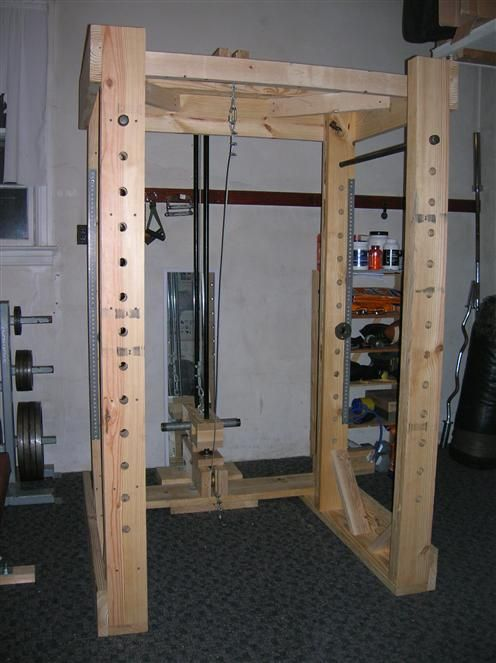 Homemade Power Rack And Lat Tower Total Cost Was Around