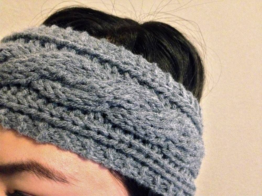 Close Up of Cable Knit Headband | Knitting | Pinterest | Tejido ...