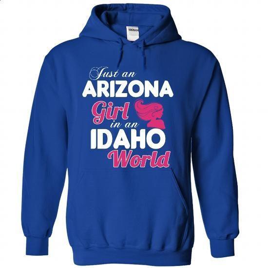 An ARIZONA-IDAHO girl Pink04 - design your own shirt #rock tee #sudaderas sweatshirt