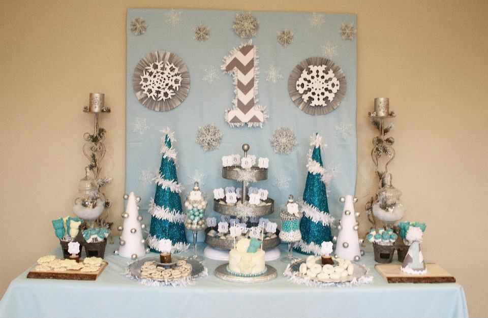 Winter Wonderland One Derland 1st Birthday Party Baby Boy Desse