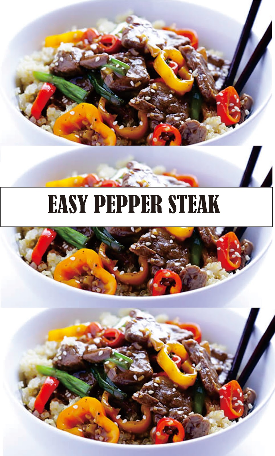 EASY PEPPER STEAK | Super Recipes | Stuffed peppers ...