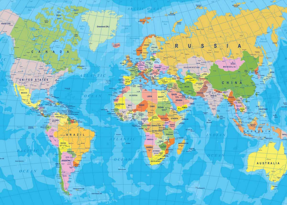 World Countries Name The Capital World Map Wallpaper World Map
