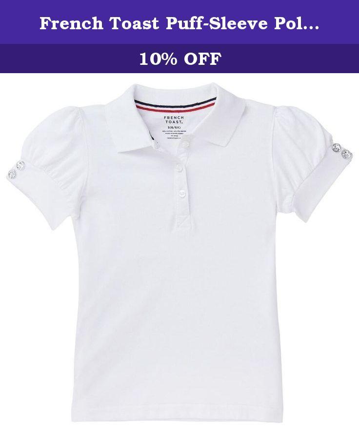 French Toast Girls Puff-Sleeve School Uniform Polo Shirt