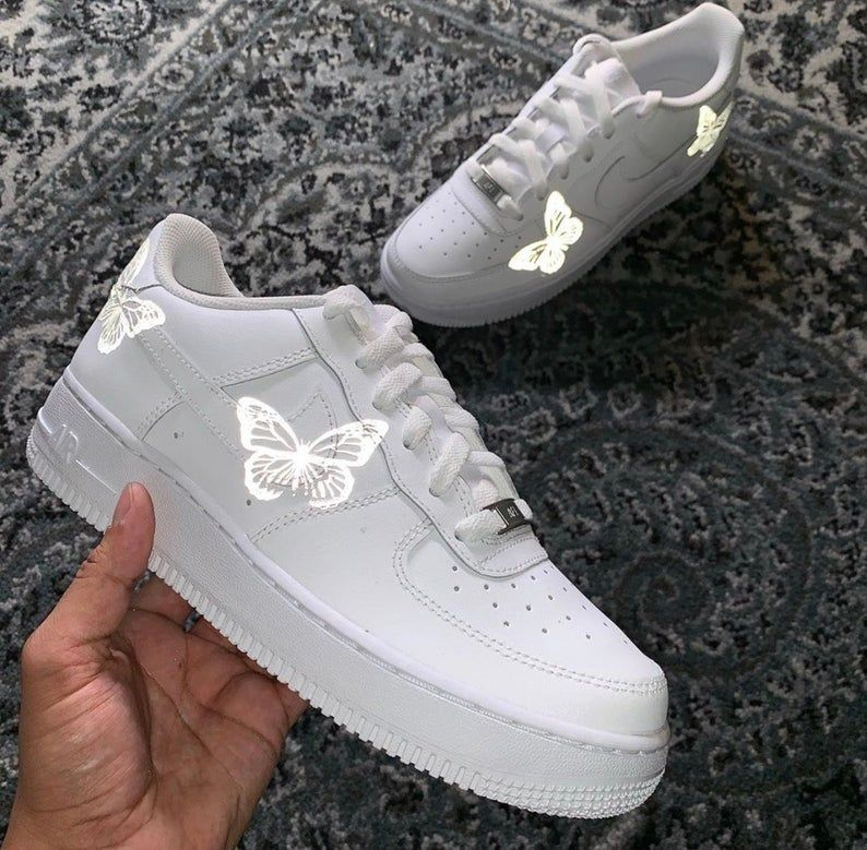 Nike Air Force 1 Butterflight Etsy in 2020 Nike shoes