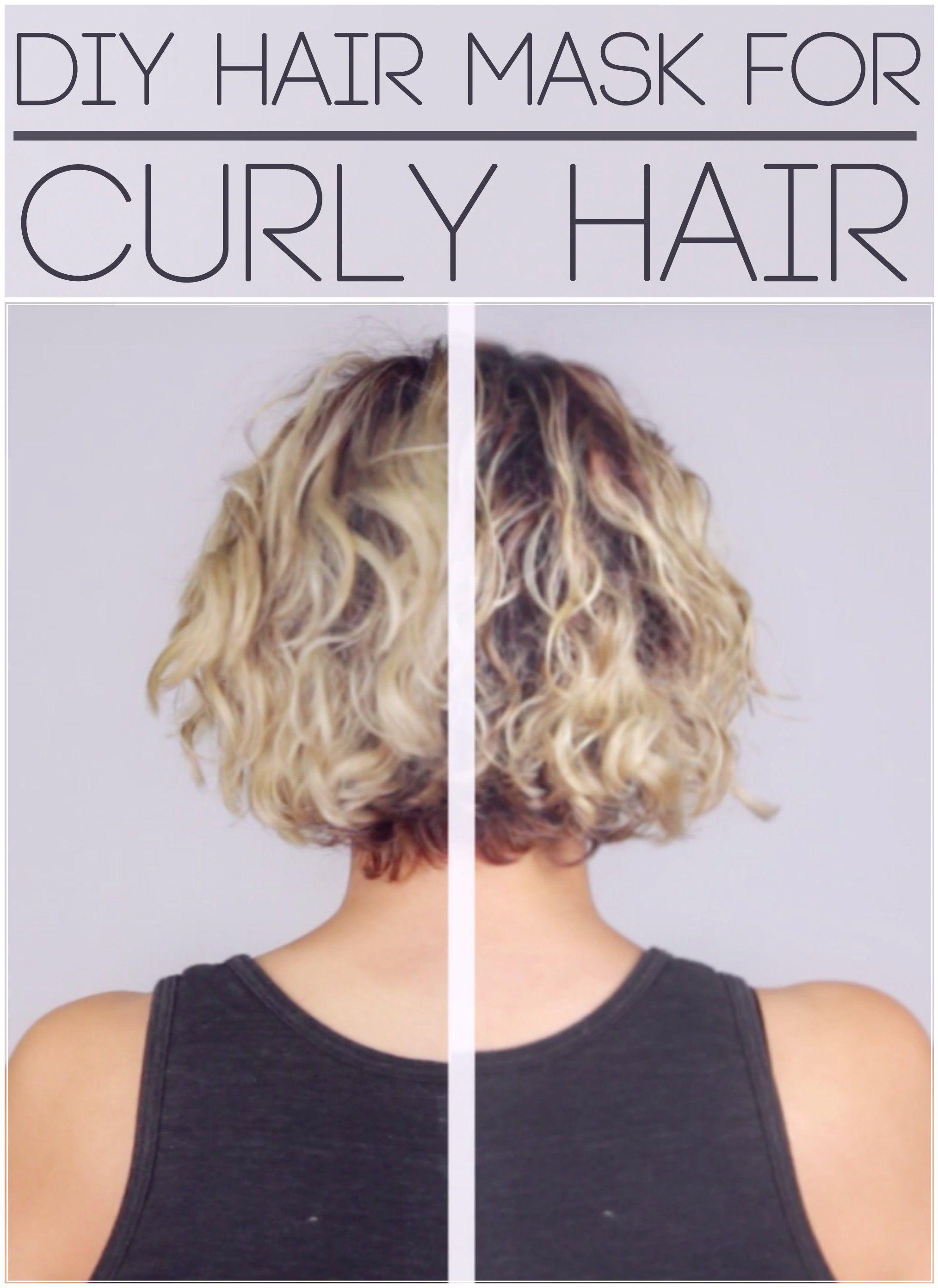 DIY Hair Mask for Curly Hair 1 Egg 2 tbsp. Mayo, 1 tbsp