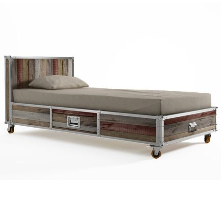 Loft Reclaimed Teak Twin Platform Storage Bed