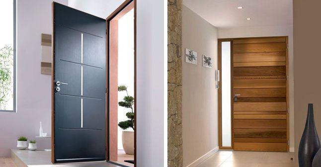 Porte d 39 entr e en bois les plus beaux mod les pour votre for Modele entree maison