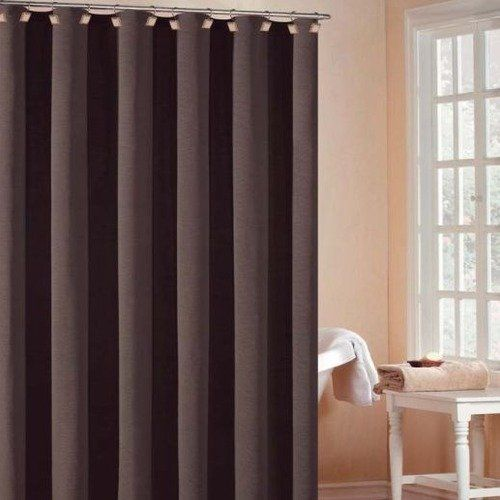 DR International Bahamas Hotel Shower Curtain in Chocolate, $25.19