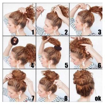 How To Get A Perfect Bun Done In Just Minutes But No One Will Know A Thrifty Mom Recipes Crafts Diy And More Hair Styles Hair Donut Curly Hair Styles