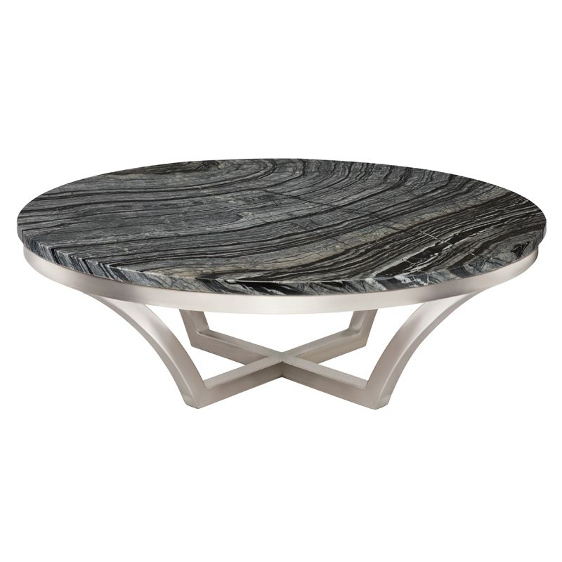 Aurora Coffee Table Stainless Steel Frame Marble Top