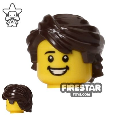 Lego Short Bob Female Hair x 1 Dark Brown for Minifigure