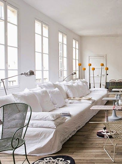 The White Linen Sofa I Need White Linen Sofa Parisian Living Room Home