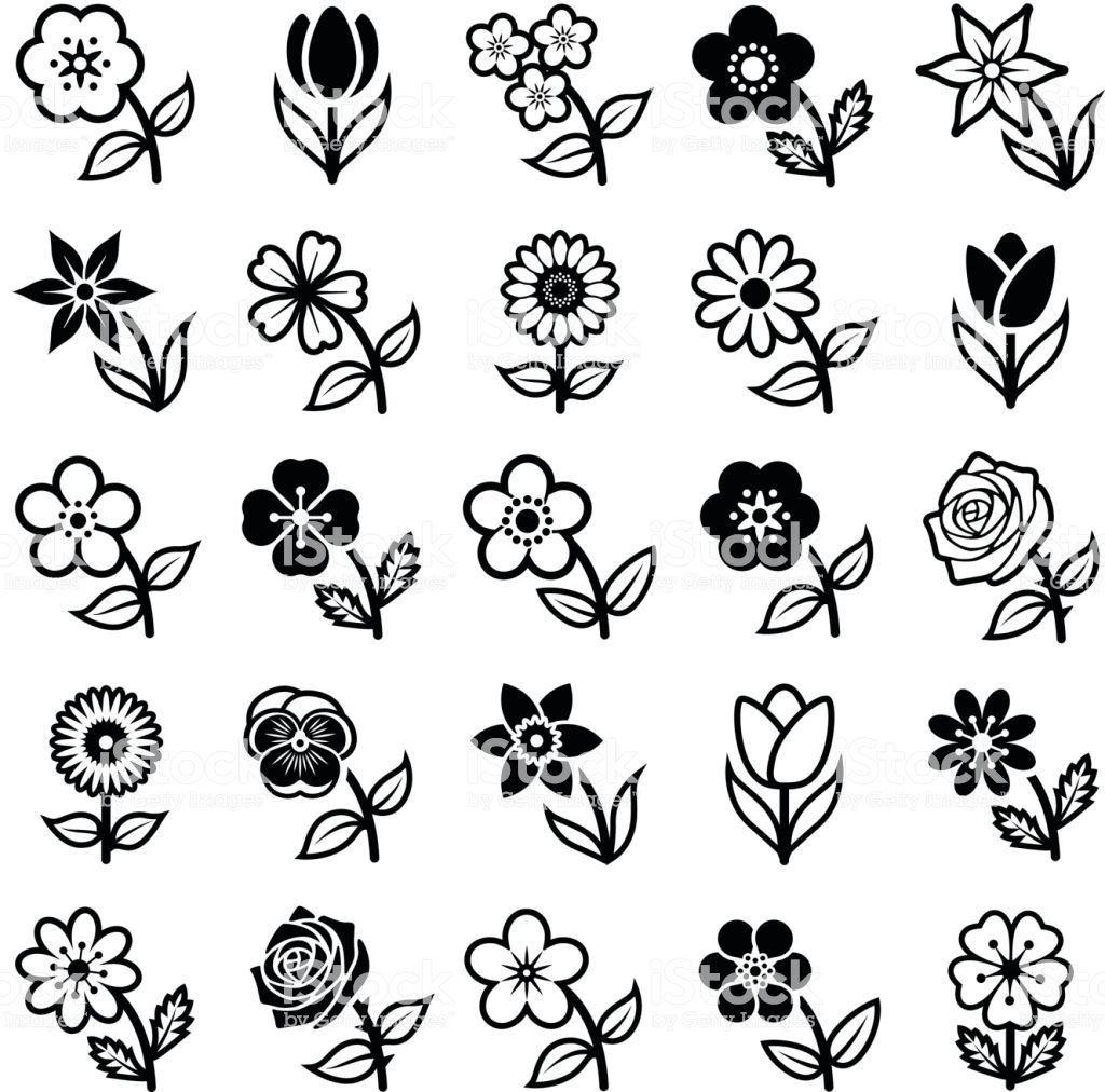 Flower icon collection vector illustration Icon