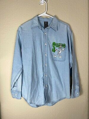 (eBay Sponsored) Mens Small Warner Bros Studio Store Bugs Bunny Suave L/S Button Up Shirt