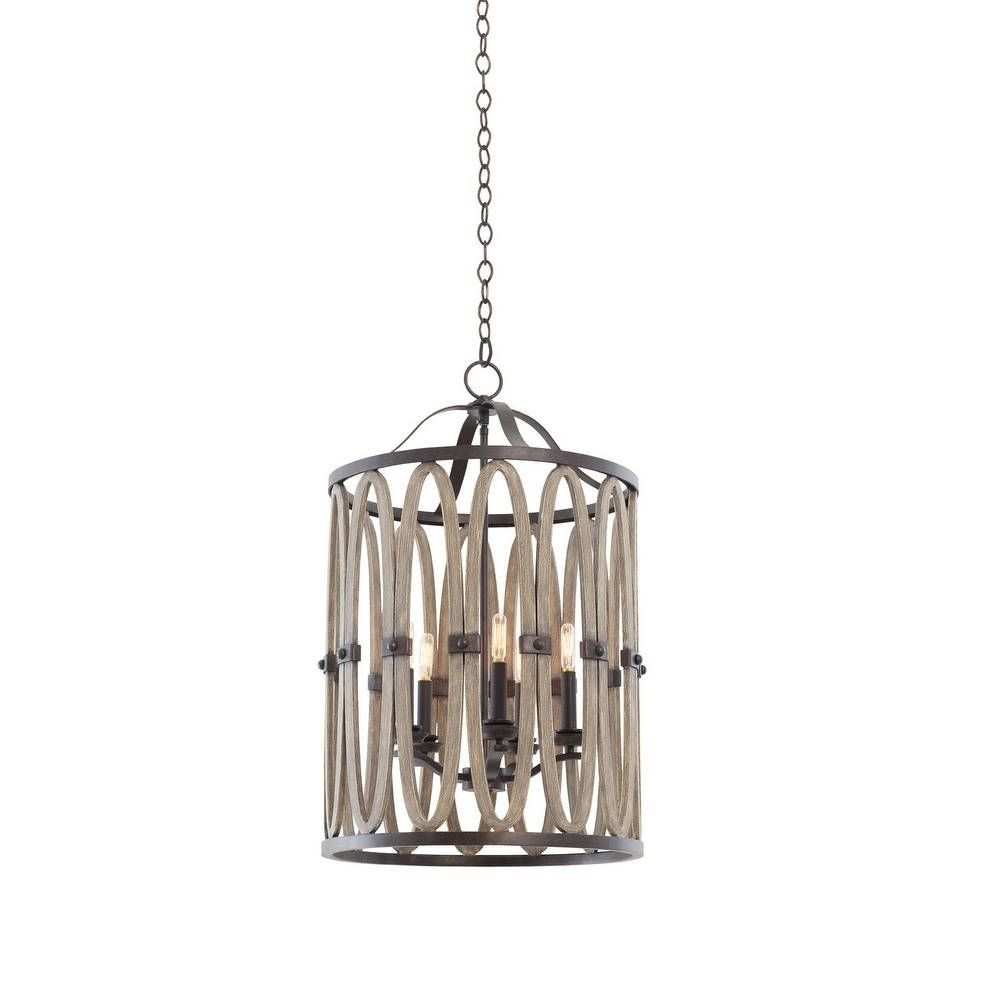 Kalco Belmont light Foyer Fixture Grey metal  Outlet store and