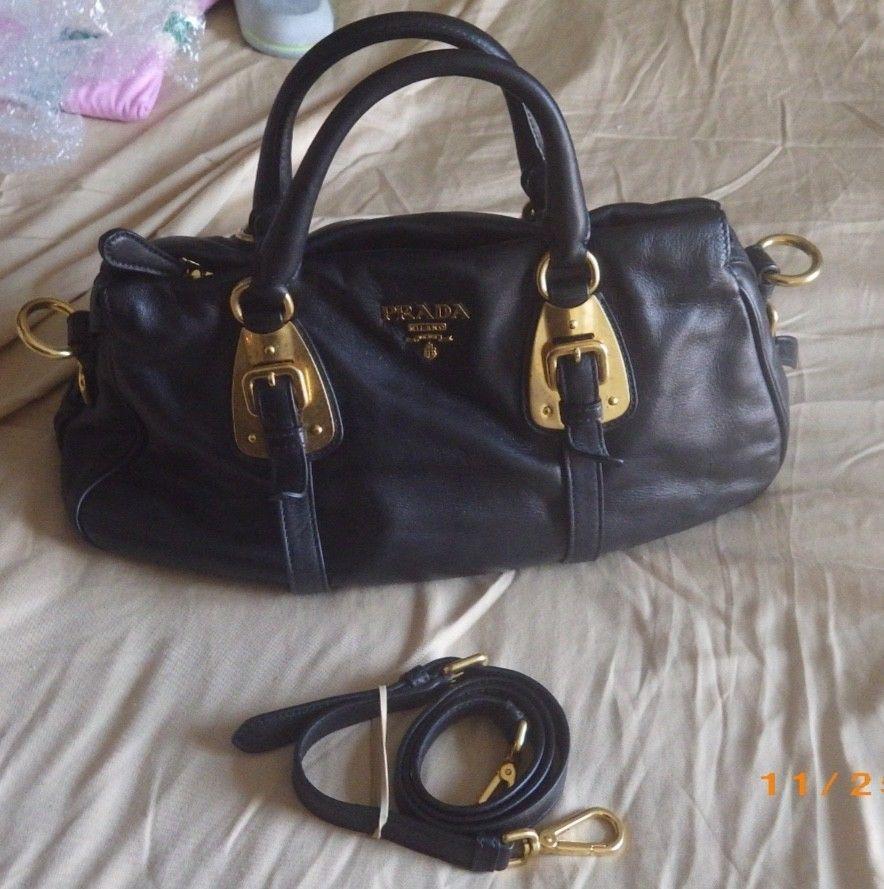 af4d9d2fbbd138 Prada Handbag Bauletto Black Leather NEW Soft Calf Nero #fashion #clothing  #shoes #accessories #womensbagshandbags (ebay link)