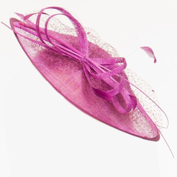 379afc4390a TheHeadwearBoutique on Etsy- Lydia Purple Saucer-Style Fascinator ...