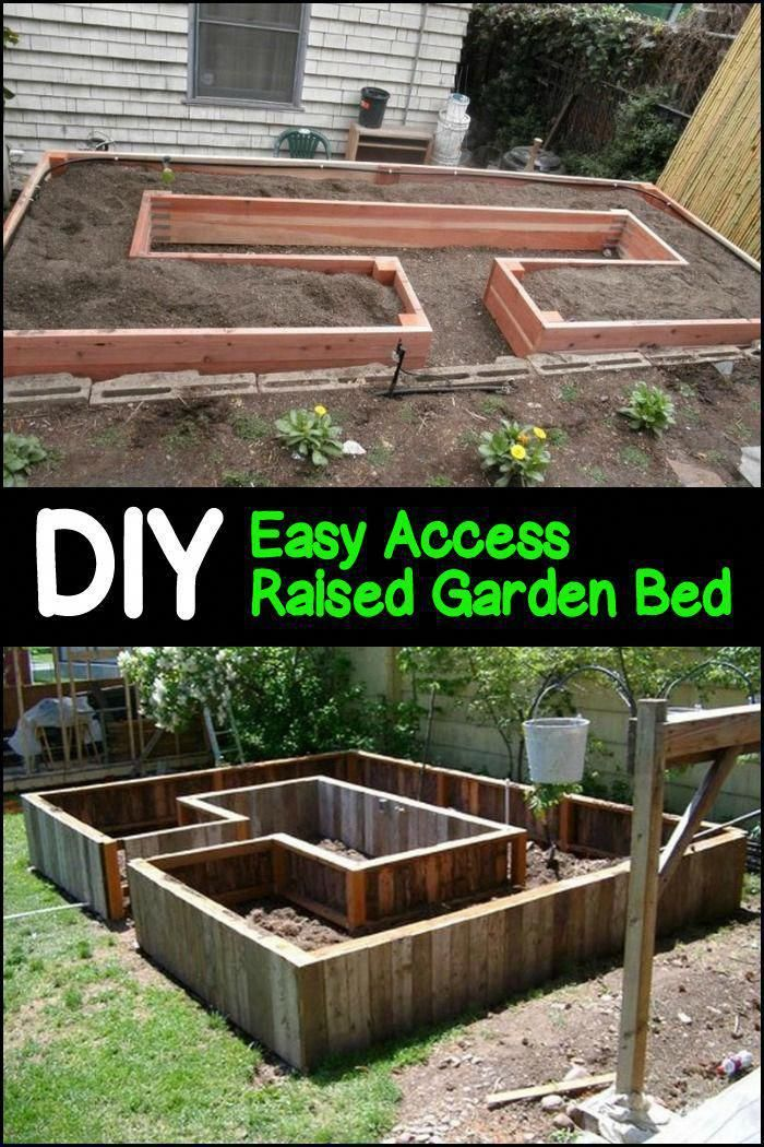 This garden bed is easy on your back, gives good drainage