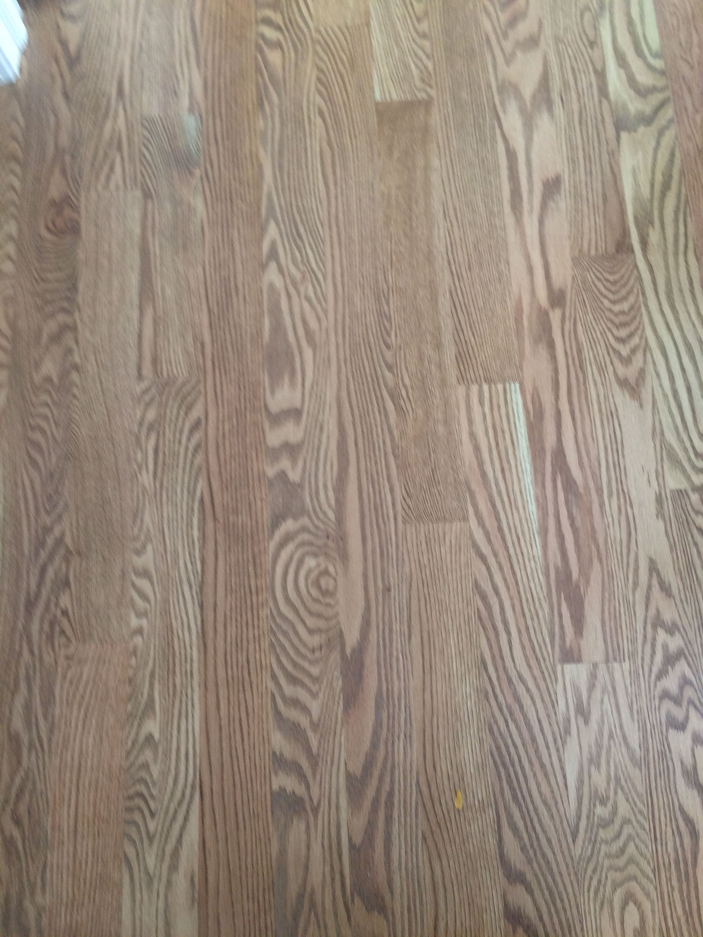 red oak hardwood with