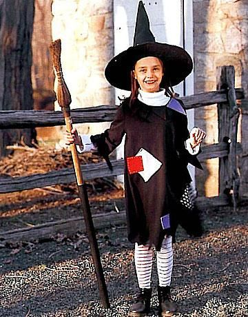 Diy Halloween How To Make A Child S Witch Halloween Costume