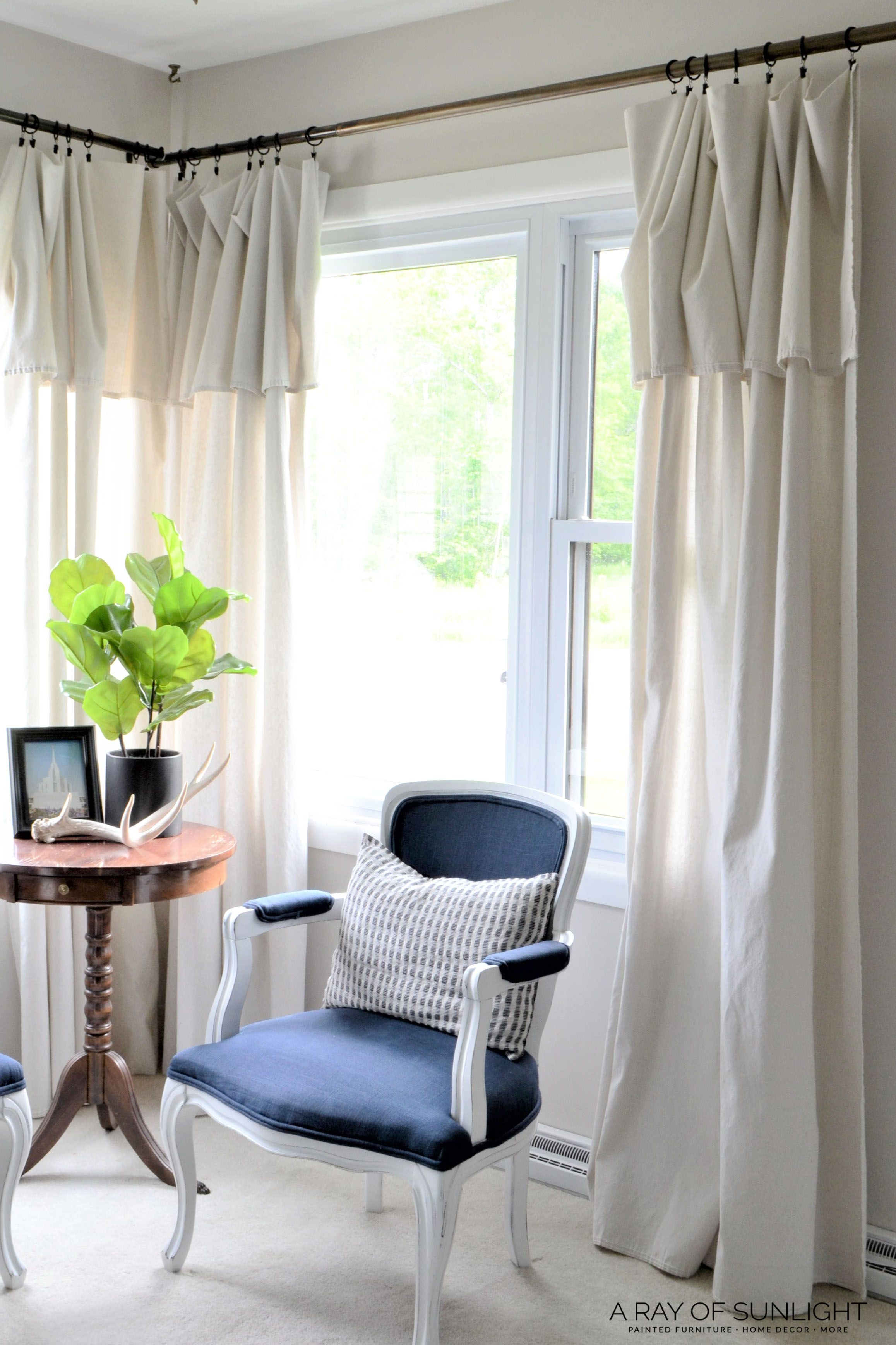 Farmhouse Drop Cloth Curtains Living room decor curtains