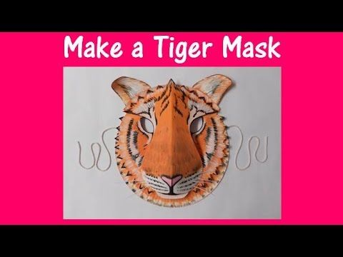 Create a Tiger mask with two paper plates and card.  sc 1 st  Pinterest & Arts and Crafts: How to make a Tiger mask. - YouTube | Activities ...