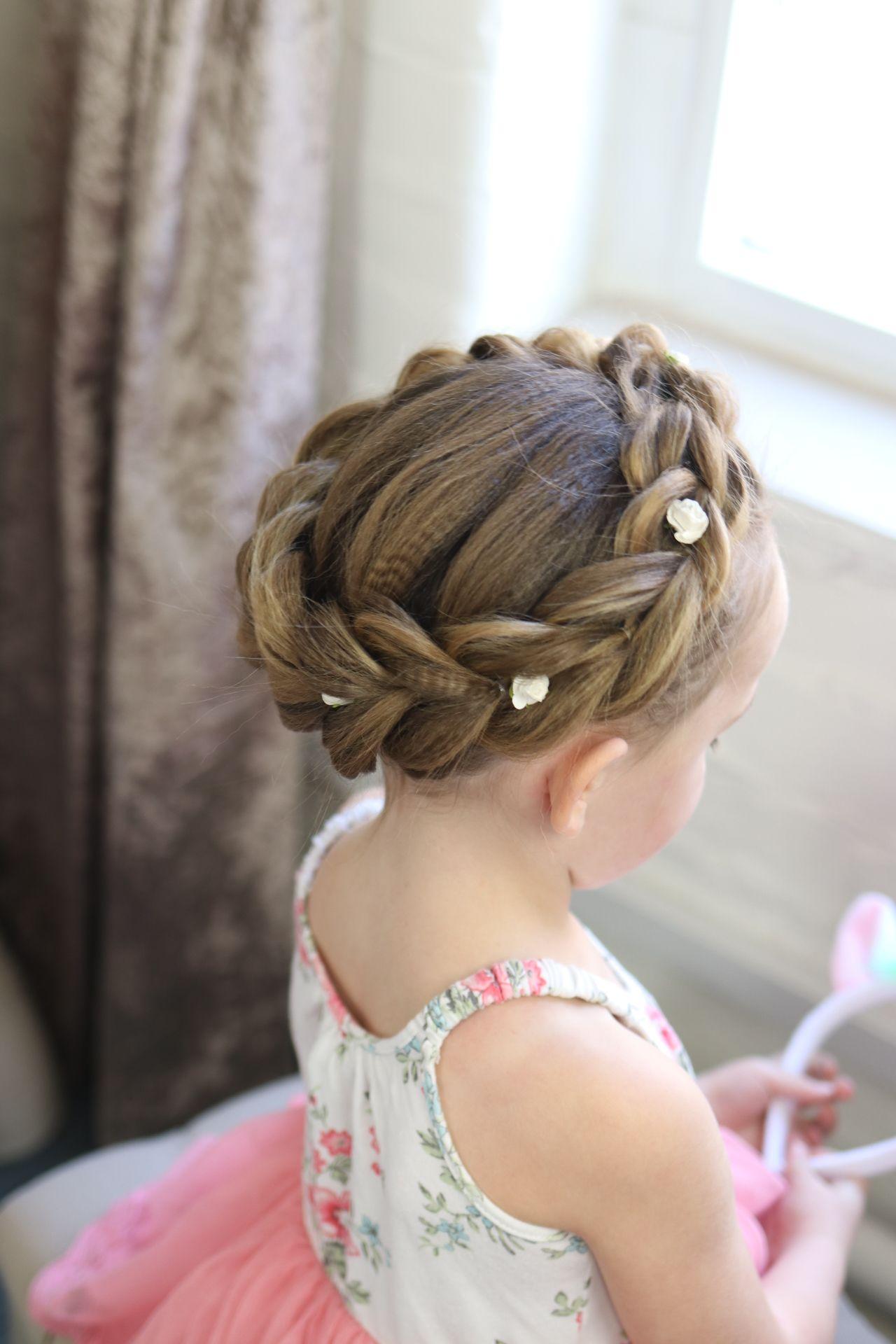 Flower Girl Hair Tutorial Sweetheartshair Flower Girl