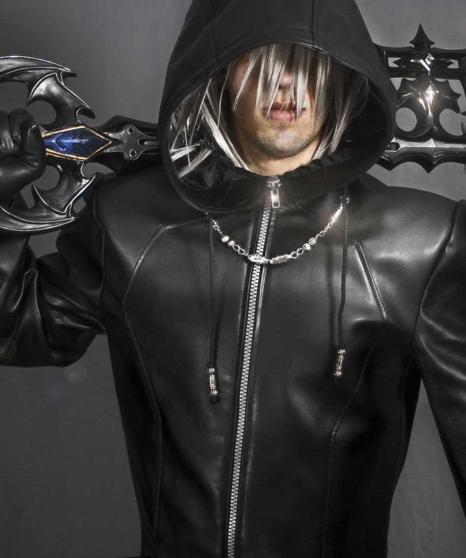 Black Leather Trench Organization XIII Enigma Hooded Coat