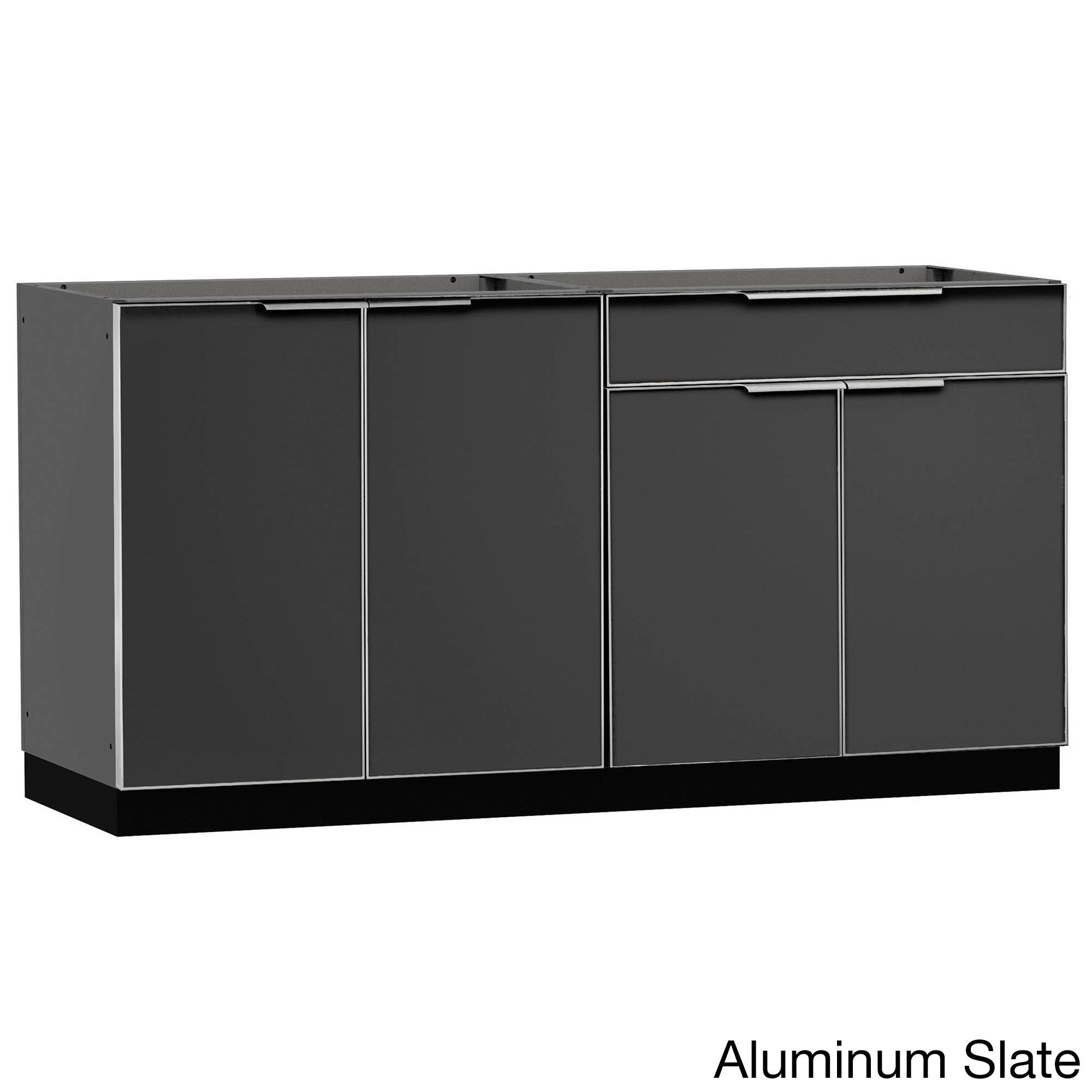 Newage Products Aluminum Stainless Steel 64 Inch X 24 Inch 2 Piece Outdoor Kitchen Storage Modular Outdoor Kitchens Outdoor Kitchen Cabinets Outdoor Kitchen Countertops