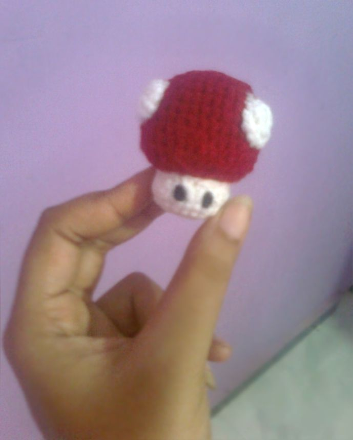 """Delta-Zelta......all about Innovation: Mario Mushroom """"Power-Up"""" (Amigurumi No.9) - Want to make this for my brother."""