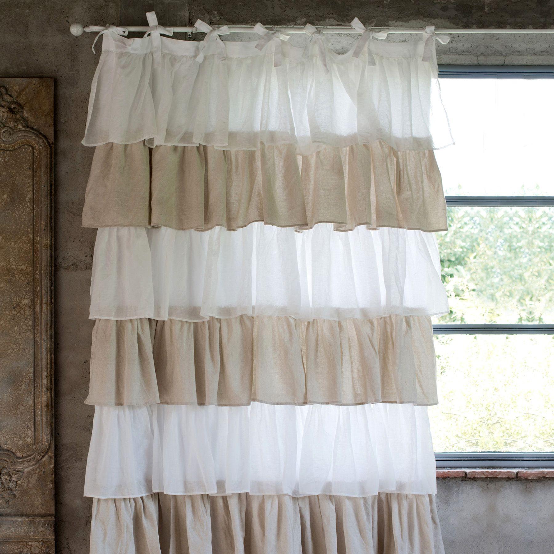 Tenda Shabby Chic Fru Fru Collection Blanc Mariclo  Cm