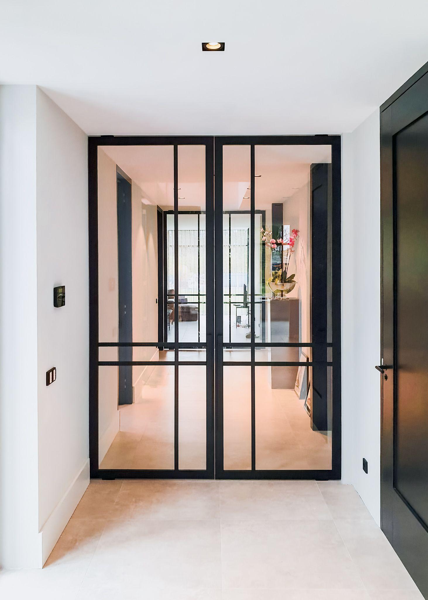Double Crittall Style Pivot Door Crittall Door Double Pivot Style In 2020 Glass Doors Interior Pivot Doors Door Glass Design