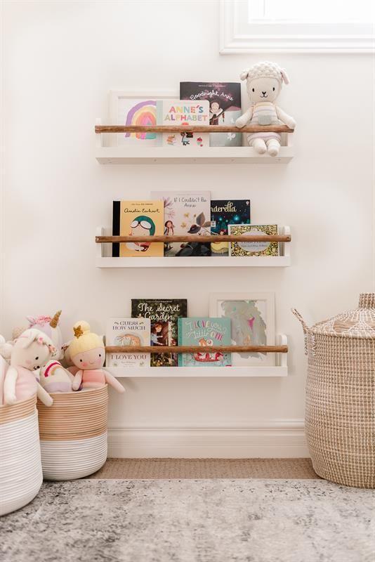 Playroom Picture & Bookshelves (set of three