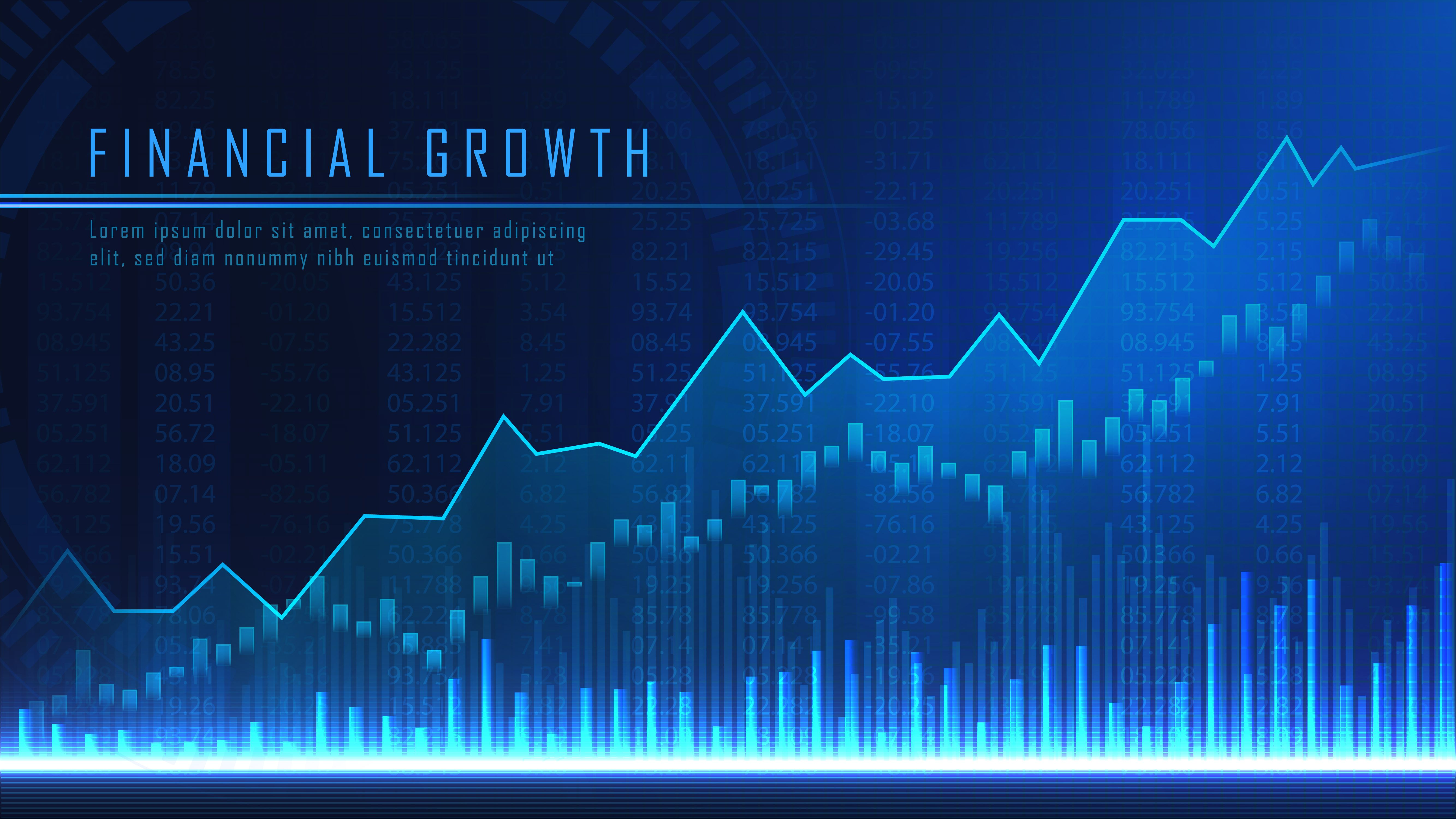 Concept Art Of Financial Growth Stock Market Graph Concept Art