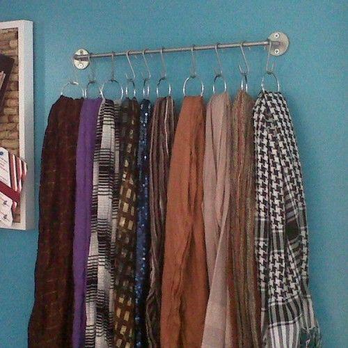 50 Scarves Storage Ideas Shelterness Scarf Organization Scarf