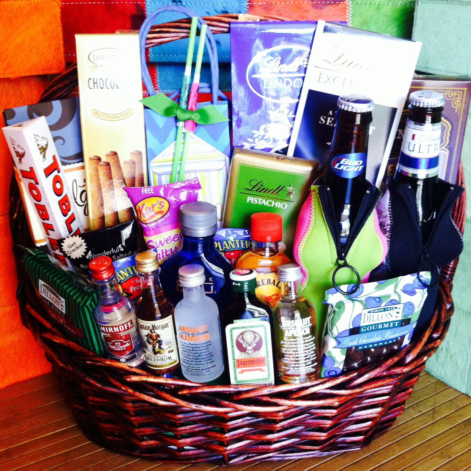 Custom liquor gift basket for cheer nation athletics
