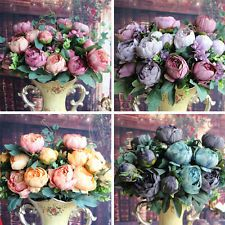 Artificial Peony Silk Flowers Bridal Hydrangea Party Decor Flower Arrangement