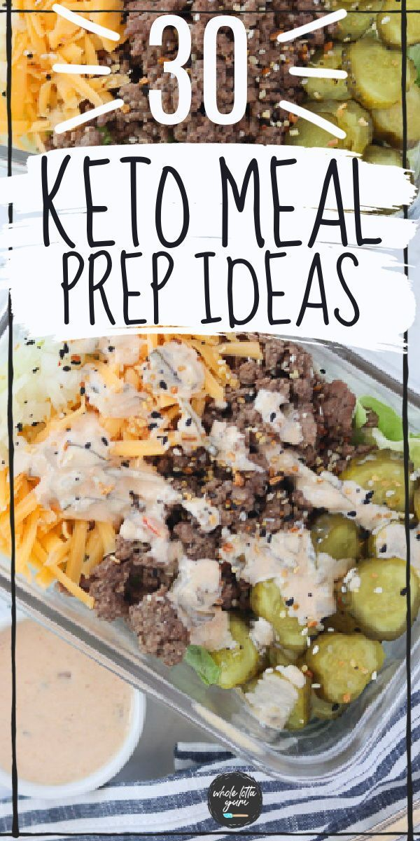 30 Low Carb Keto Meal Prep Recipes -   18 meal prep recipes for the week lunches ideas