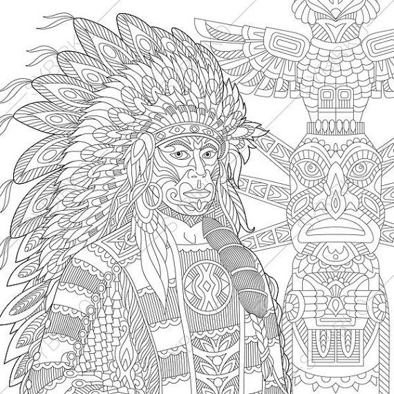Coloring Pages For Adults Digital Coloring Pages Native Etsy Coloring Books Coloring Pages Anti Stress Coloring Book